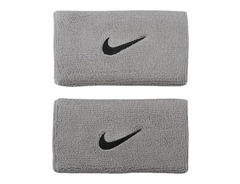 Nike Swoosh Double Wide Wristband Grey/Black